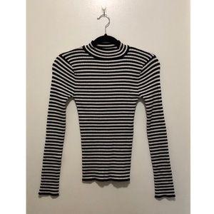 Forever 21 Tops - Forever 21 Striped Mock Neck Knit Top